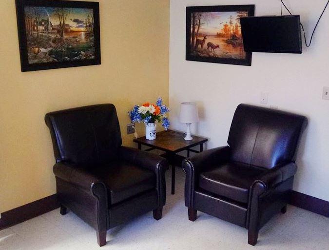 Private room lounge area